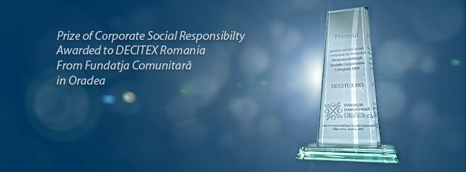prize of Corporate Social Responsability awarded to Decitex Romania